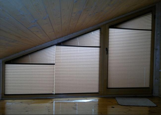 Plisy do okien dachowych
